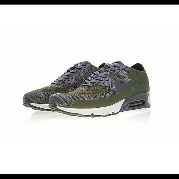 official photos a751e 9461c NEW! Nike Air Max 90 Flyknit Men's Shoes NWT
